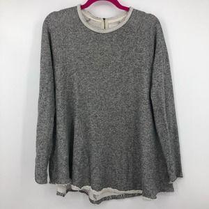 Cooperative Gray Jersey Sweatshirt Long Sleeve Top